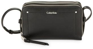 Calvin Klein Logo Leather Shoulder Bag