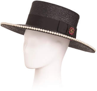 Made In Italy Notte Embellished Straw Hat