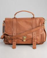 Proenza Schouler PS1 Large Satchel Bag, Saddle