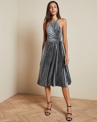 Ted Baker Velvet Sleeveless Midi Dress