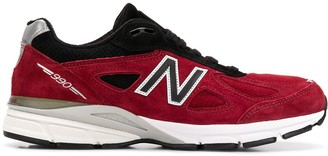New Balance M990 RB4 suede sneakers