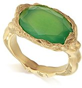 Jade Jagger Maiden Chrysoprase Sterling Silver with Gold Vermeil Ring - Size K