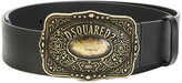 DSQUARED2 western buckle belt - women - Calf Leather/Metal (Other) - 90