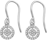 Astley Clarke Mini Icon Aura 14ct white-gold diamond drop earrings