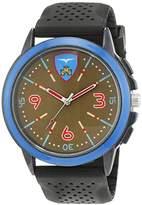 Trias Men's Quartz Watch with Black Dial Analogue Display Quartz Rubber – 37