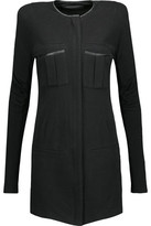 Haider Ackermann Ruched Stretch Cotton And Wool-Blend Mini Dress