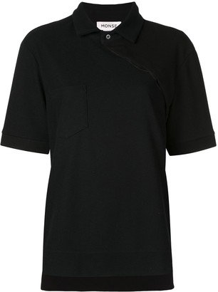Monse Two-Tone Twisted Polo Shirt