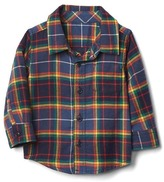 Gap Colorful plaid flannel shirt