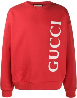 Gucci logo print crew neck sweatshirt