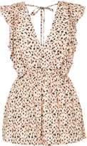 SUBOO leopard print playsuit