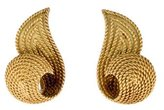 Hermes 18K Vintage Clip On Earrings