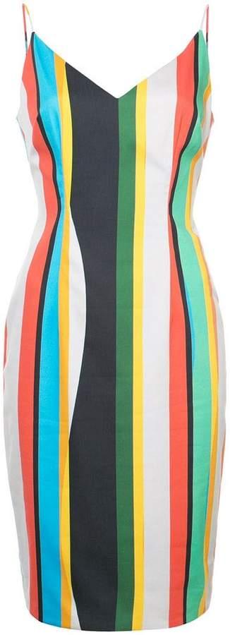 Black Halo striped dress