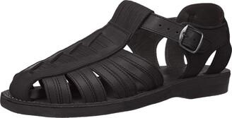 Jerusalem Sandals Barak - Leather Closed Toe Sandal - Mens Sandals Black