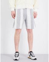 Adidas X Alexander Wang Striped Regular-fit Cotton Shorts