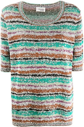 Missoni Pre Owned 1990s knitted striped T-shirt