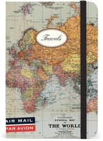 Cavallini & Co. World Map Small Lined Notebook