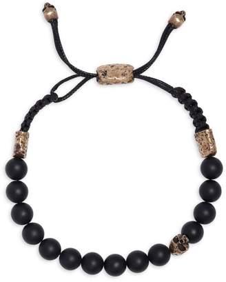Mercer Brass & Cabochon Onyx Adjustable Bracelet