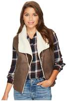 BB Dakota Goodrich Faux Suede Vest with Shearling Backing