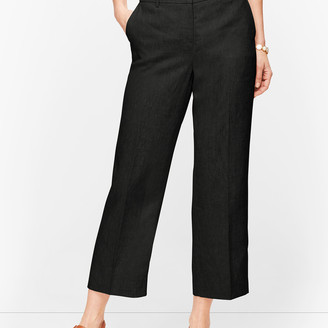 Talbots Linen Straight Leg Crop Pants