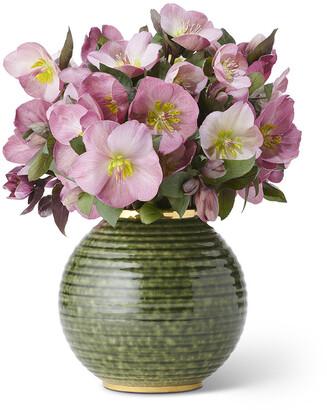 AERIN Calinda Round Vase - Forest Green