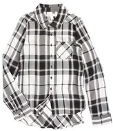 Fire Plaid Woven Shirt (Big Girls)