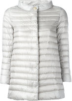 Herno high collar padded jacket - women - Cotton/Feather Down/Nylon/Acetate - 46