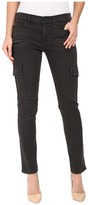 Hudson Colby Ankle Moto Skinny Cargo in Smoky Dark Grey