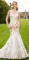 Camille La Vie Metallic Lace Mermaid Wedding Dress