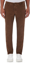 Incotex Men's M-Body Modern-Fit Stretch-Cotton Trousers-BROWN