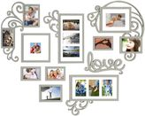 WallVerbsTM 10-piece Heart Love Scroll Photo Frame Set in Silver