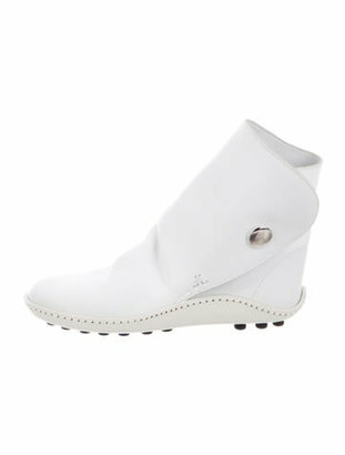 Lanvin Leather Boots White