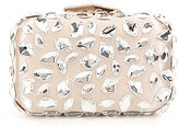 Kate Landry Jeweled Satin Box Frame Clutch