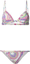 Etro abstract print bikini set