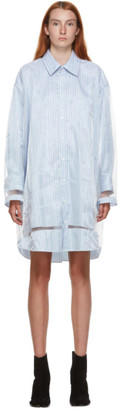Maison Margiela Blue Stripe Poplin Shirt Dress