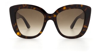 Gucci Oversized Cat Eye Frame Sunglasses