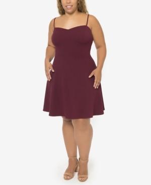 B. Darlin Plus Trendy Strappy-Back Dress