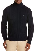 Lacoste Wool Mixed Rib Knit Sweater