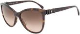 Chanel Dark Tortoiseshell & Brown Gradient Butterfly Sunglasses