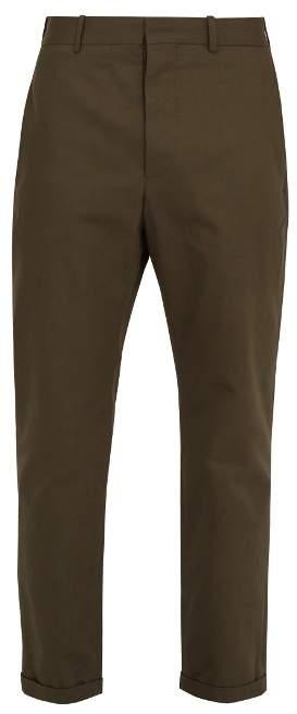 Marni Mid-rise slim-leg cotton chino trousers
