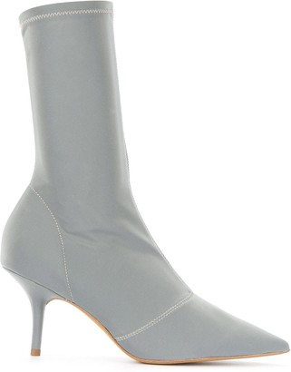 Yeezy Kitten Heel High Ankle Boots