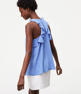 LOFT Ruffle Back Shell