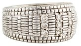Judith Ripka Diamond Linen Dome Band