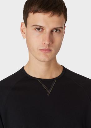 Paul Smith Men's Black Jersey Cotton Long-Sleeve Top