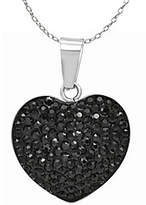 Steel by Design Stainless Steel Crystal Heart Pendant with Chain