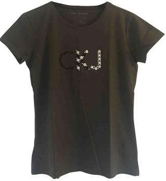 Calvin Klein Khaki Cotton Top for Women