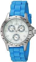 Invicta Women's 'Speedway' Quartz Stainless Steel and Silicone Casual Watch, Color:Blue (Model: 21970)