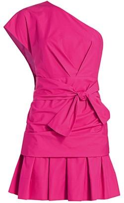 Derek Lam 10 Crosby One-Shoulder Mini Fit & Flare Dress