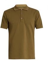 Maison Margiela Short-sleeved cotton-piqué polo shirt