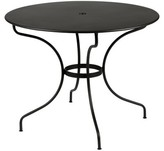 Fermob Opera Metal Dining Table Color: Liquorice