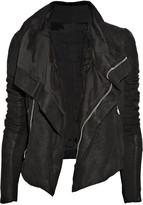 Blister washed-leather biker jacket